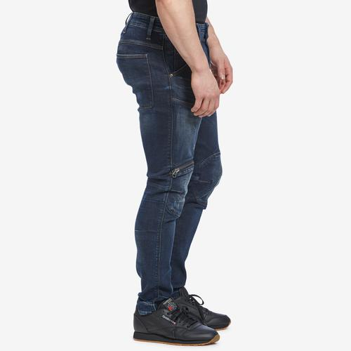Left Side View of G STAR RAW Men's 5620 3D Zip Knee Skinny Jeans