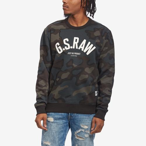 Front View of G STAR RAW Men's Graphic 12 Slim Sweater