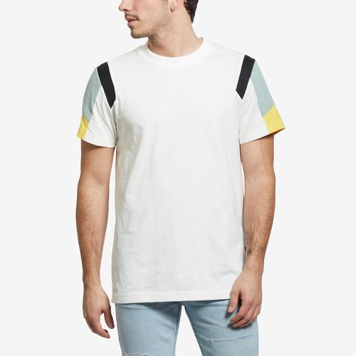 Front View of G STAR RAW Men's Motac Fabric Mix T-Shirt