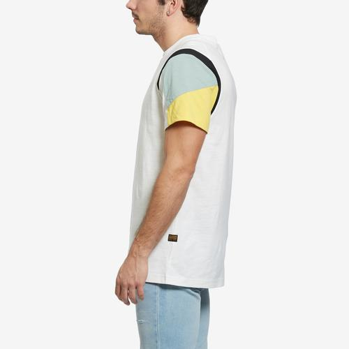 Right Side View of G STAR RAW Men's Motac Fabric Mix T-Shirt