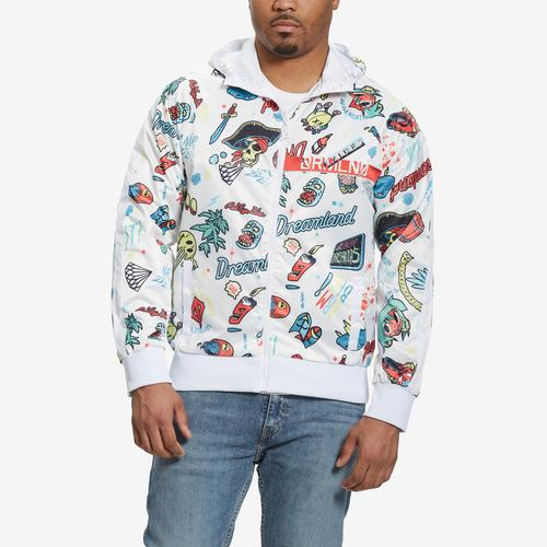 Front View of Dreamland Men's All Over Print Track Jacket