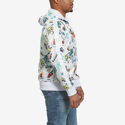Left Side View of Dreamland Men's All Over Print Track Jacket
