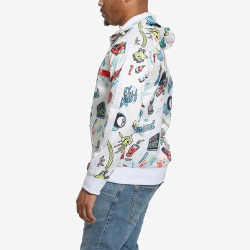 Right Side View of Dreamland Men's All Over Print Track Jacket