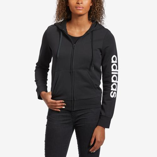 Front View of adidas Women's Essentials Linear Hoodie