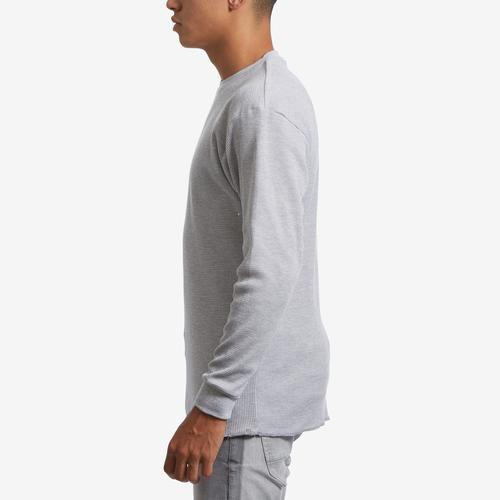 Left Side View of EBL by Galaxy Men's Waffle Knit Thermal Shirt