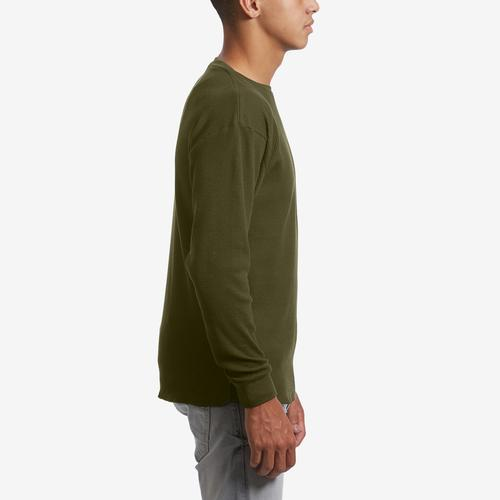 Right Side View of EBL by Galaxy Men's Waffle Knit Thermal Shirt