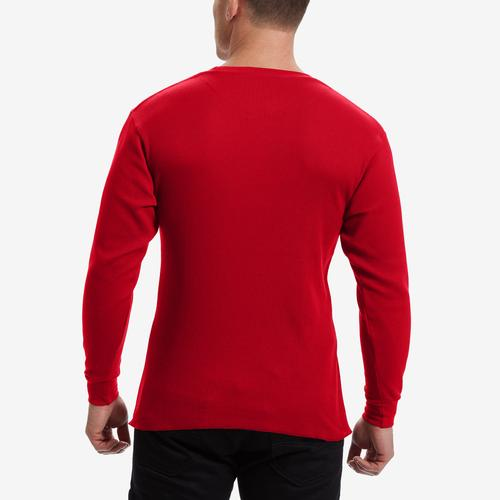 Back View of EBL by Galaxy Men's Waffle Knit Thermal Shirt