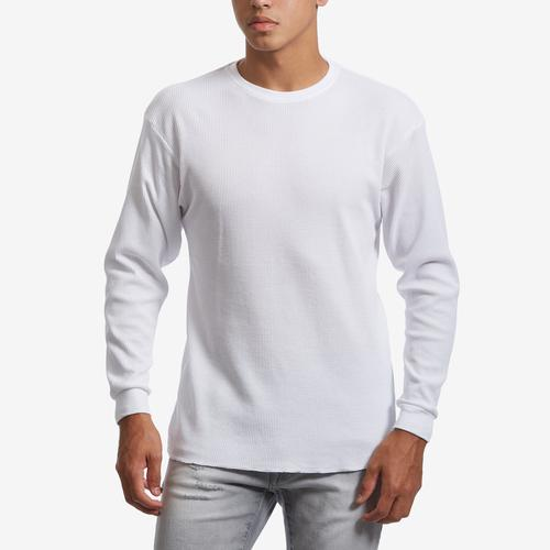 Front View of EBL by Galaxy Men's Waffle Knit Thermal Shirt