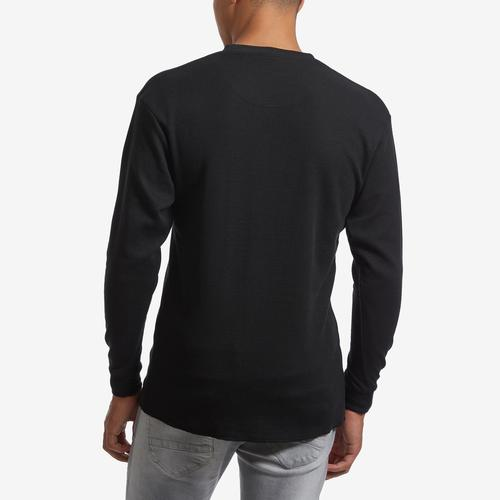 Back View of EBL by Galaxy Men's V-Neck Thermal Shirt