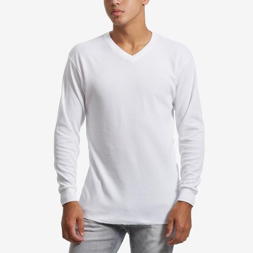 Front View of EBL by Galaxy Men's V-Neck Thermal Shirt