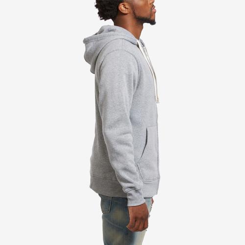 Right Side View of EBL by PJ Mark Men's Full Zip Fleece Hoodie