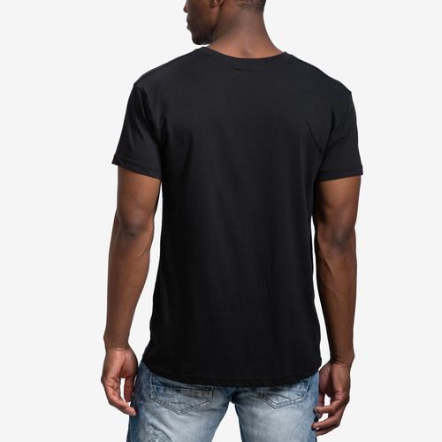 Back View of Galaxy Men's V-Neck Tee