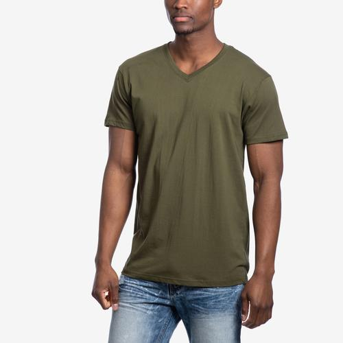 Front View of Galaxy Men's V-Neck Tee