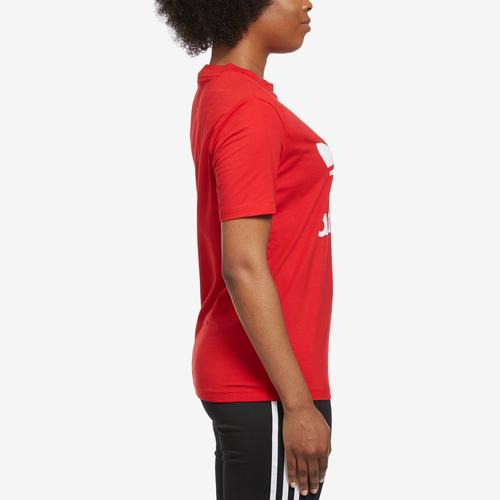 Right Side View of adidas Women's Trefoil Tee