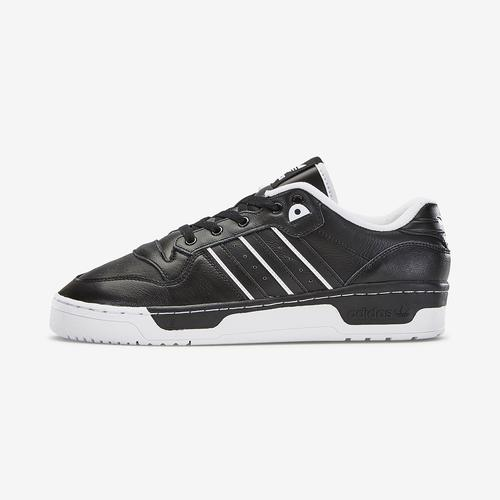 Left Side View of adidas Boy's Grade School Rivalry Low J Sneakers