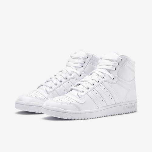 Side Angle View of adidas Boy's Grade School Top Ten Hi J Sneakers