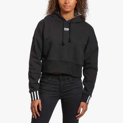 Front View of adidas Women's Originals Cropped Hoodie