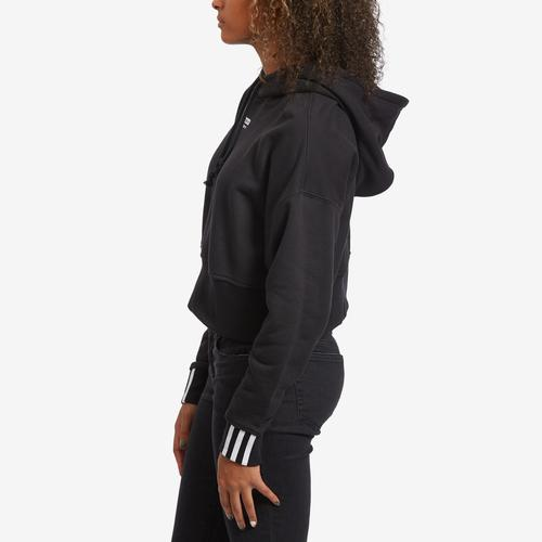 Left Side View of adidas Women's Originals Cropped Hoodie