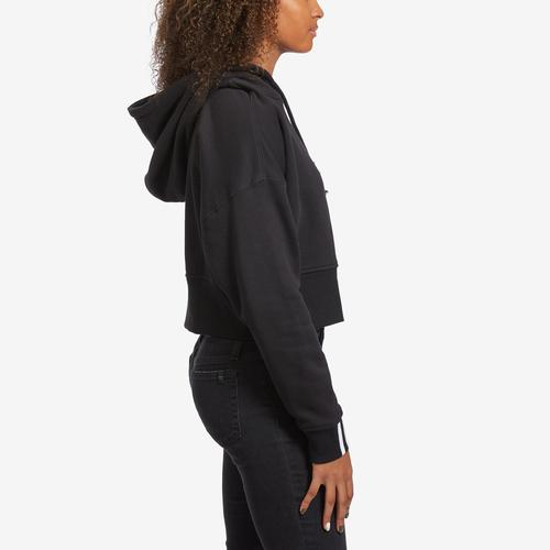 Right Side View of adidas Women's Originals Cropped Hoodie