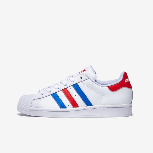 Left Side View of adidas Boy's Grade School Superstar Sneakers
