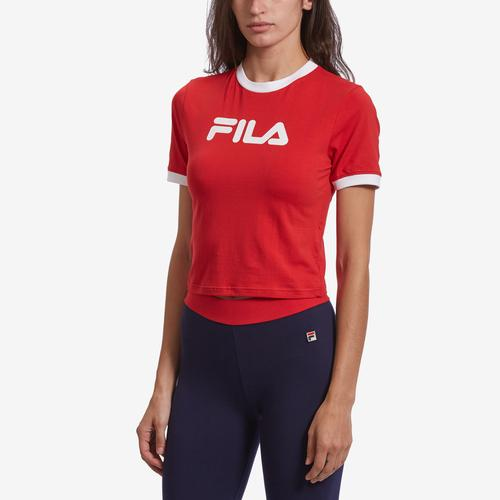 Front View of FILA Women's Tionne Cropped Tee
