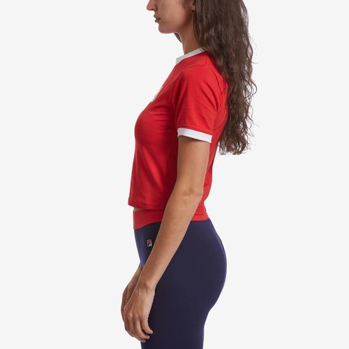 Left Side View of FILA Women's Tionne Cropped Tee