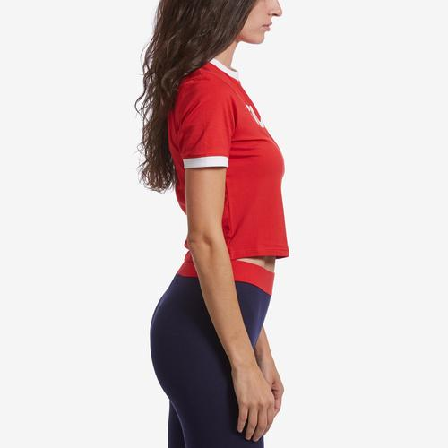 Right Side View of FILA Women's Tionne Cropped Tee