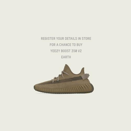 Left Side View of adidas Yeezy Boost 350 v2 Earth Sneakers