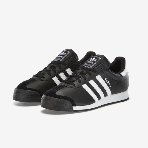 Side Angle View of adidas Boy's Grade School Samoa J Sneakers