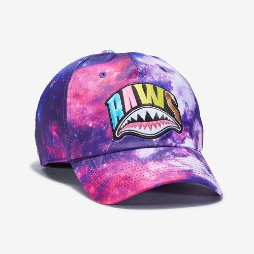Front Left view of Baws Galaxy Shark Tie Dye Hat