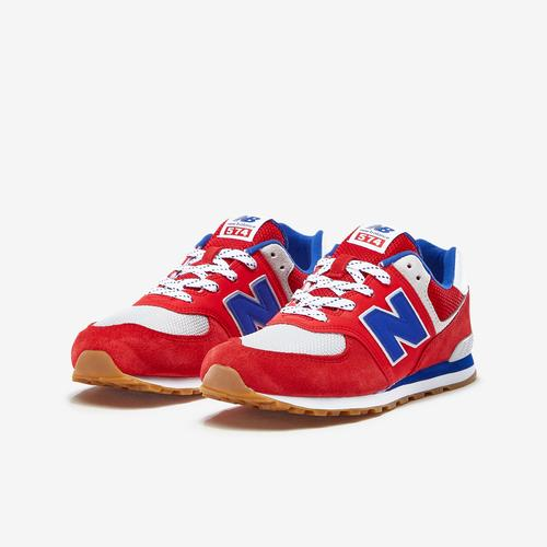 Side Angle View of New Balance Boy's Grade School 574 Core Sneakers