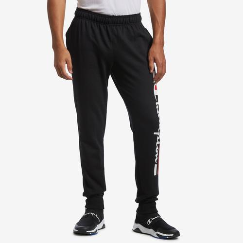 Front View of Champion Men's Graphic Powerblend Fleece Jogger