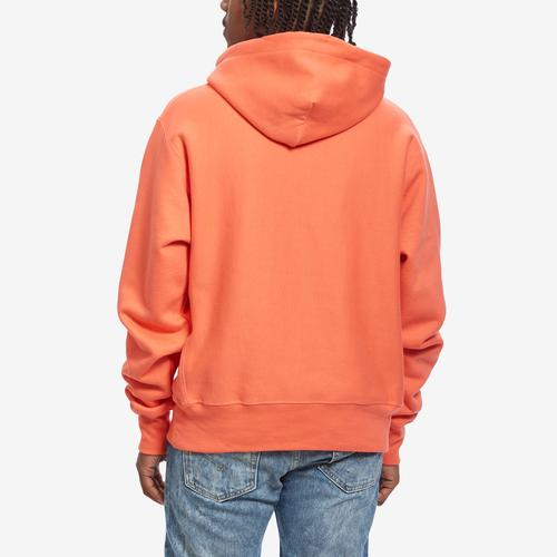 Back View of Champion Men's Life Reverse Weave Chenille Logo Pullover Hoodie