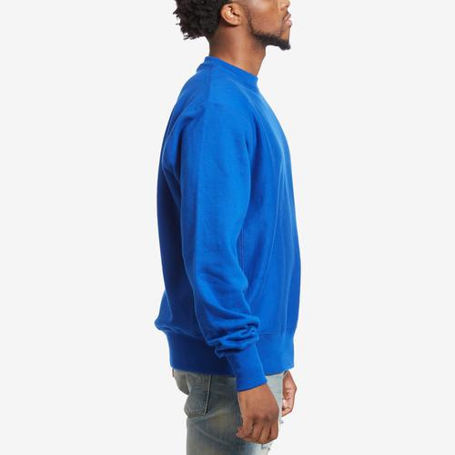 Right Side View of Champion Men's Life Reverse Weave Crew, Oversized Script
