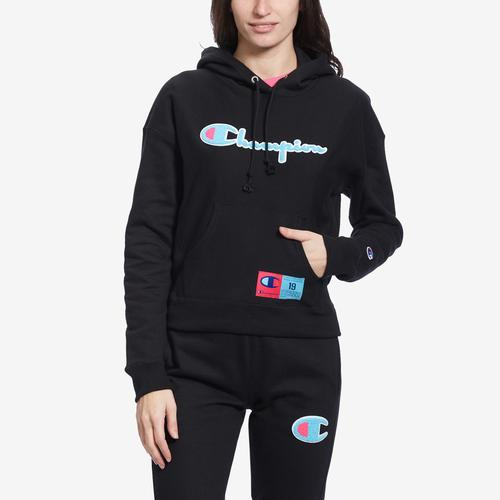 Front View of Champion Women's Reverse Weave Pullover Hoodie