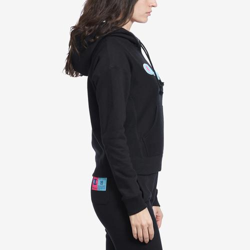 Left Side View of Champion Women's Reverse Weave Pullover Hoodie
