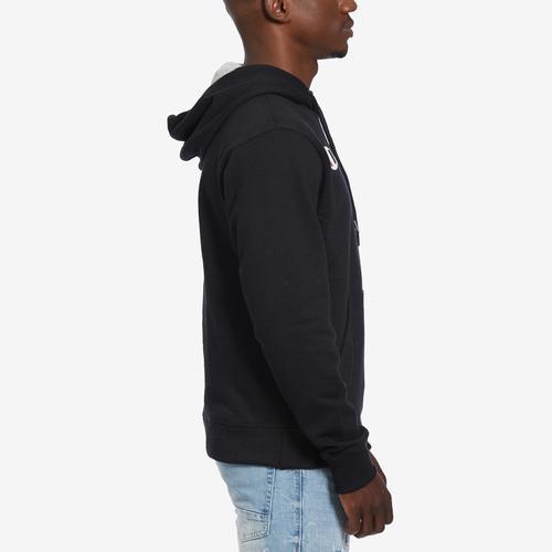 Right Side View of Champion Men's Powerblend Fleece Pullover Hoodie, Script Logo