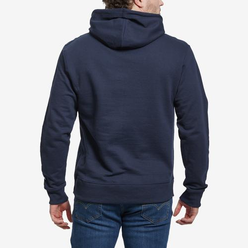 Back View of Champion Powerblend Fleece Pullover Hoodie, Script Logo