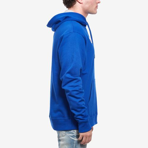 Left Side View of Champion Men's Powerblend Fleece Pullover Hoodie, Script Logo