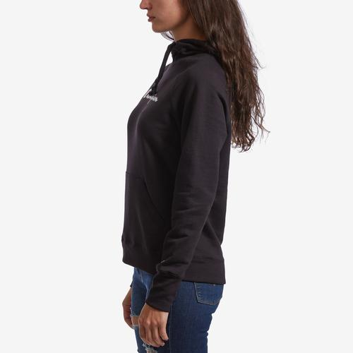 Left Side View of Champion Women's Graphic Powerblend Hoodie