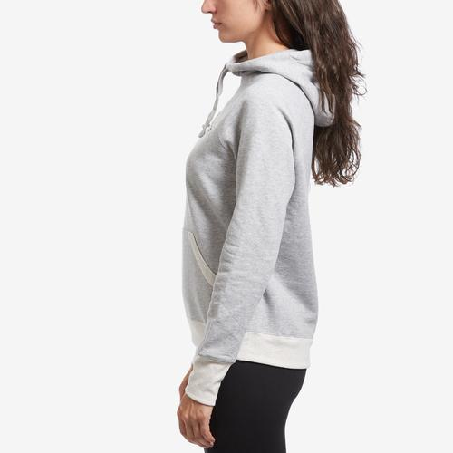 Left Side View of Champion Women's Applique Powerblend Hoodie