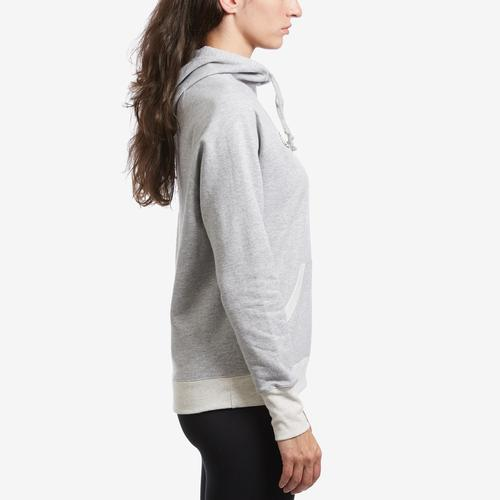 Right Side View of Champion Women's Applique Powerblend Hoodie