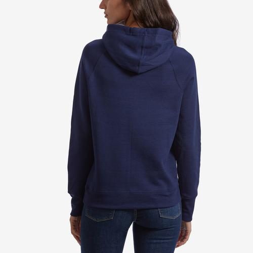 Back View of Champion Women's Graphic Powerblend Hoodie