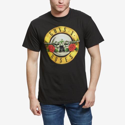 Front View of BRAVADO Men's Guns N Roses Bullet Logo T-Shirt