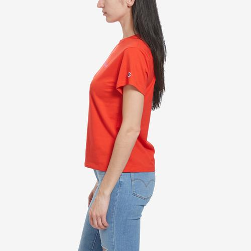 Right Side View of Champion Women's Graphic Jersey Short Sleeve T-Shirt