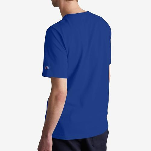 Back View of Champion Men's Life Tee, Embroidered Script Logo