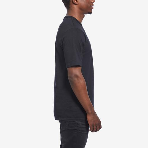 Left Side View of Champion Men's Life Tee, Embroidered Script Logo