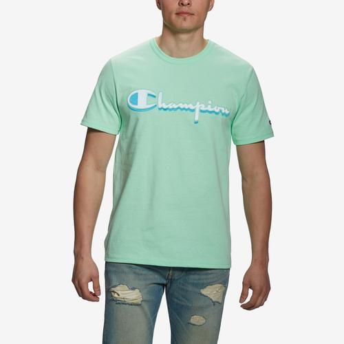 Front View of Champion Men's Short Sleeve Logo Tee