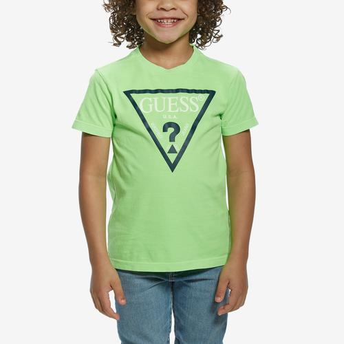 Front View of Guess Girl's Logo Tee