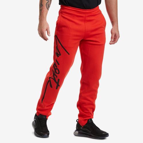Front View of Lacoste Men's Unisex LIVE Signature Textured Fleece Sweatpants